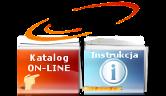 Wybierz obszar aby przejsść do katalogu ON_LINE lub instrukcji korzystania z katalogu ON-LINE