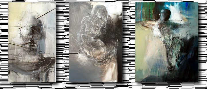 Grafika przedstawiająca obrazy Aurelii Tymińskiej